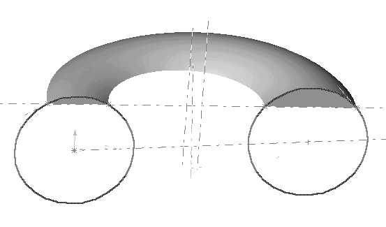 CAD model of diaphragm base torus
